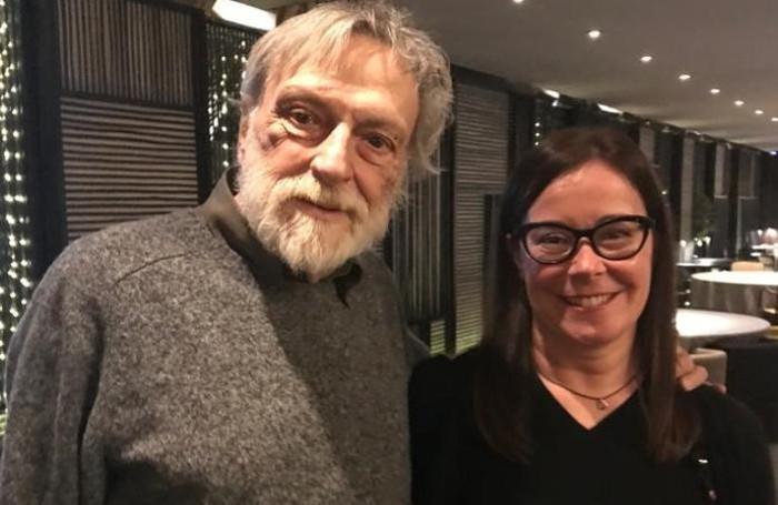 Beatrice Milani, presidente della società, con Gino Strada