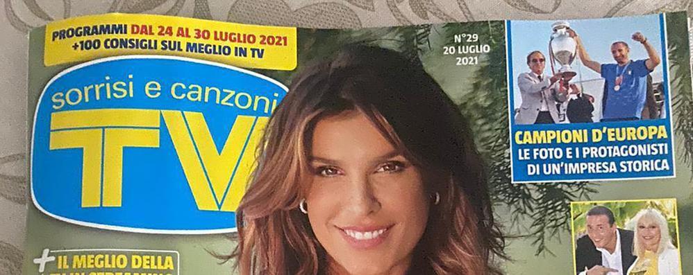 """Canzo, con Canalis su """"Sorrisi""""  anche il Segrino va in copertina"""