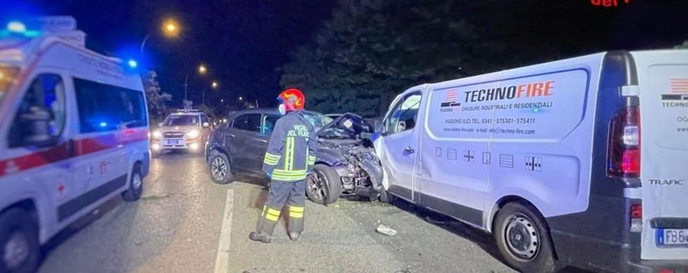 Grave incidente a Oggiono  Sconosciuto in prognosi riservata