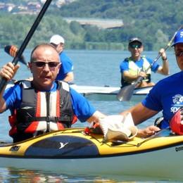 Oggiono In canoa per 24 ore,   che festa per l'Okt