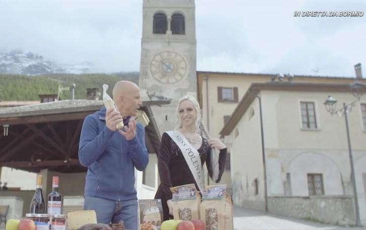Da Bormio la polenta taragna rock  Il video con Mastrota è un successo